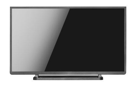 flat screen: Modern blank flat screen tv set, isolated on a white background.