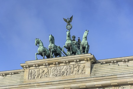Brandenburg Gate famous landmark in Berlin, Germany. Stock Photo