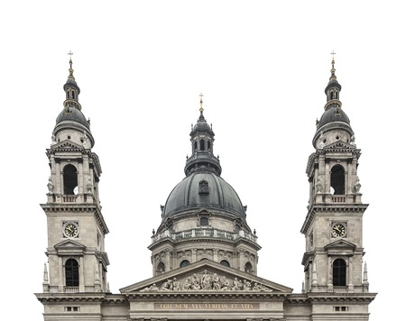 stephen: St. Stephens Basilica in Budapest - Hungary. Isolated on white.
