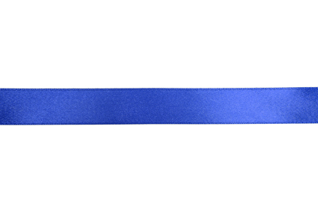 shimmery: Shiny blue ribbon on white background with copy space.