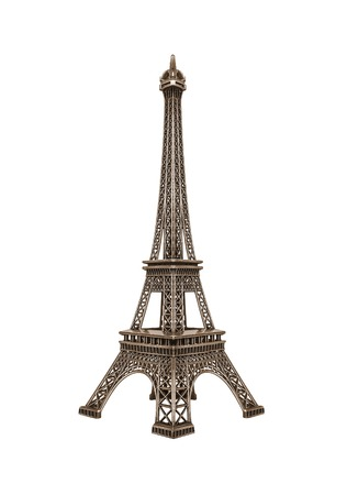 Eiffel tower isolated on a white background. Stock Photo