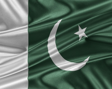 flag of pakistan: Pakistan flag with a glossy silk texture.