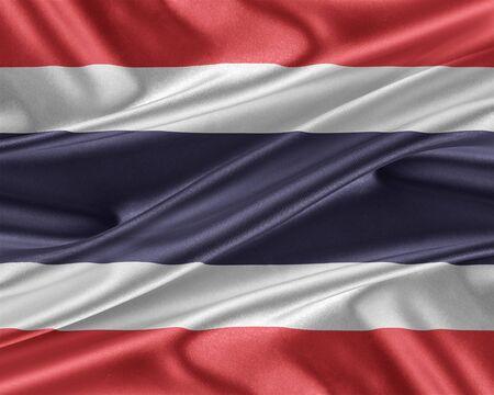 thai silk: Thailand flag with a glossy silk texture.