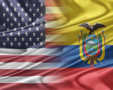 mutual assistance: USA and Ecuador. Stock Photo