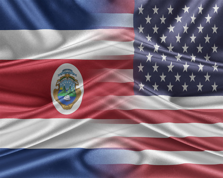 mutual assistance: USA and Costa Rica. Stock Photo