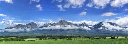High Tatras mountains - panorama. Stock Photo