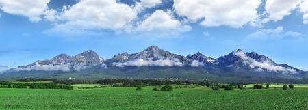 tatras tatry: High Tatras mountains - panorama. Stock Photo