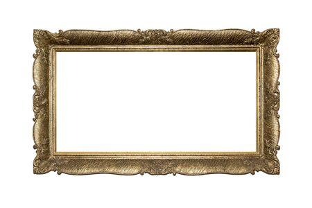 baroque: Vintage frame isolated on white background.