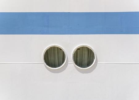 Portholes of the big ship.