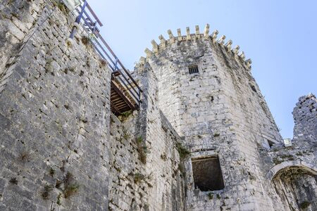 The walls of the old stone fortress. Stock Photo