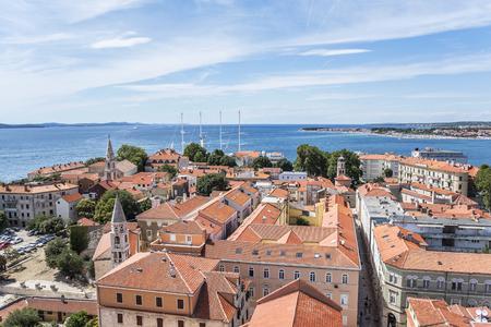 Zadar city from tower. Dalmatia. Croatia. Standard-Bild
