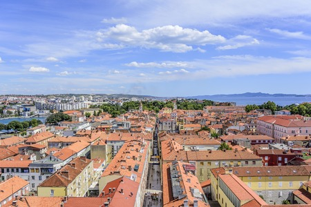 Zadar city from tower. Dalmatia. Croatia. 版權商用圖片
