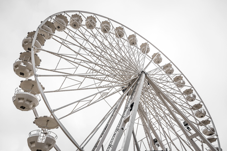 White Ferris wheel.