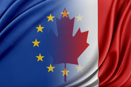 European Union and Canada. Concept of relationship between EU and Canada. 写真素材