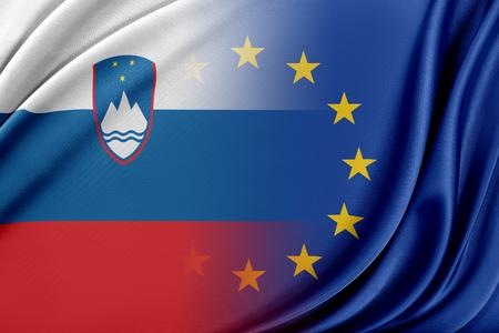 European Union and Slovenia. The concept of relationship between EU and Slovenia. Imagens