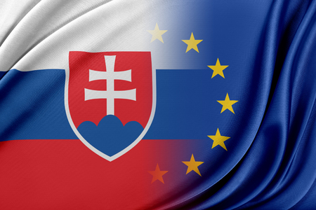 European Union and Slovakia. The concept of relationship between EU and Slovakia. Stockfoto