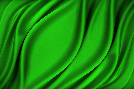 Green silk texture of satin abstract background.