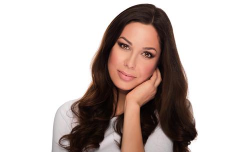 Beautiful Woman Portrait. Portrait in beauty style of beautiful brunette on a white background.