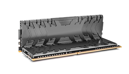 Ram DDR4 memory modules isolated on a white background.