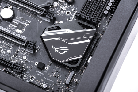 Motherboard Asus Rog Crosshair vii Hero on white background. Editöryel