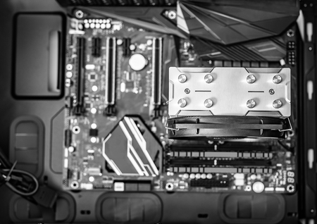 Components of the computer at the time of assembly of the PC.