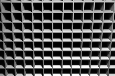 Abstract background consisting of cubic cavities. 写真素材