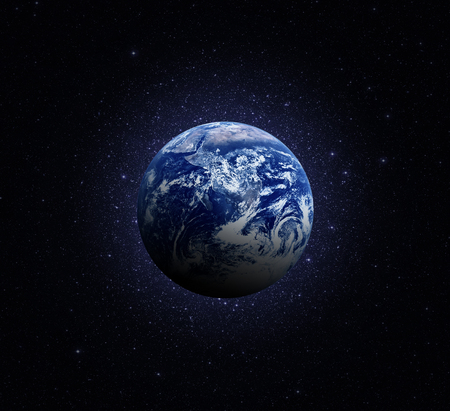 Planet Earth. Earth in the endless stellar space.