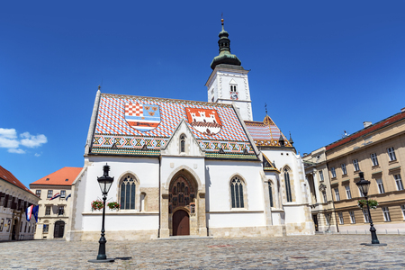 St. Marks Church at St. Marks Square, Zagreb.
