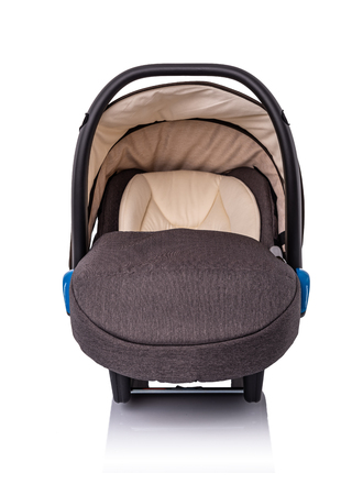 Baby car seat isolated on a white background