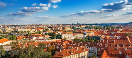 Panorama of the city of Prague, Czech Republic.