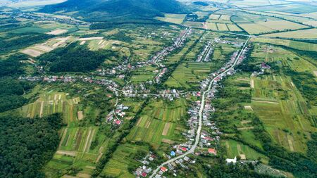 Photo of the countryside from the height of the drones flight.
