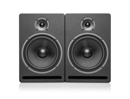 Speaker isolated on white background Banque d'images