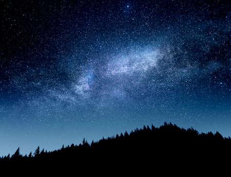 Milky Way galaxy. Starry sky.