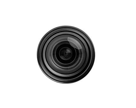 Objective lens isolated on white background. Stock Photo