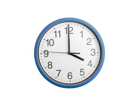 Round clock with arrows isolated on white background