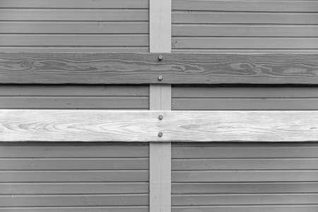 Texture of a wooden blockhouse made of logs. Standard-Bild