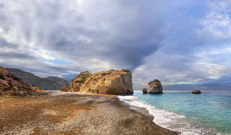 Bay of Aphrodite is famous attraction of Cyprus were located between Limassol and Paphos. large stones from ancient times counted  as the birthplace of Aphrodite, the goddess of love and fertility.