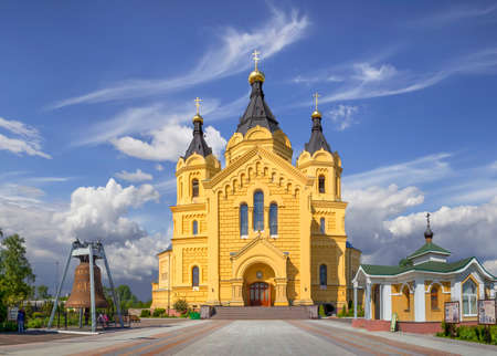 oka: The cathedral in the name of the holy prince Alexander Nevsky.