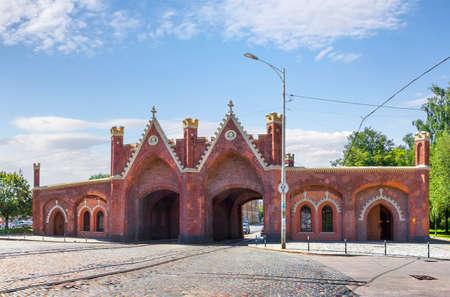 ブランデンブルク門。カリーニング ラード、ロシア 写真素材