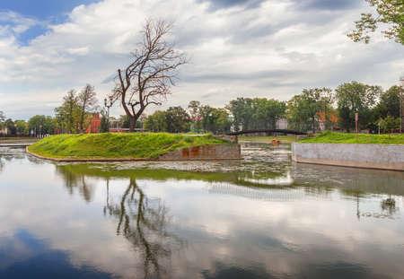 Poplavok Pond in Kaliningrad. Russia. Stock Photo