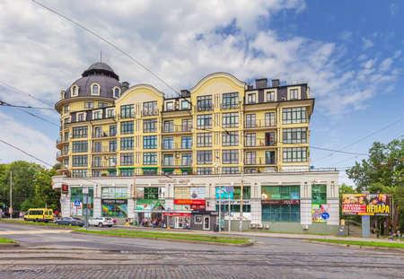 Prospekt Mira in Kaliningrad. Russia.