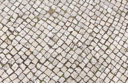 Stone pavement texture. Natural background