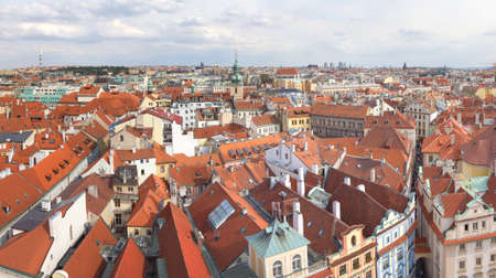 Panoramic view of Prague. Czech Republic. Stock Photo