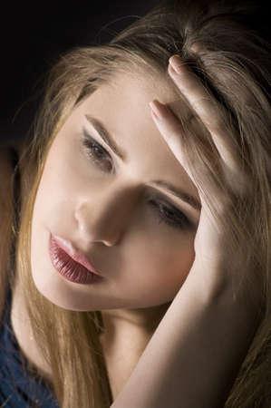 portrait of a sad girl  photo