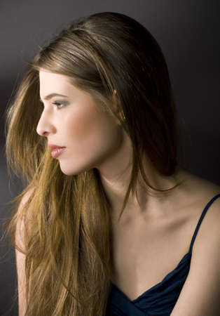 Portrait of a calm beautiful young woman Stock Photo - 9373065