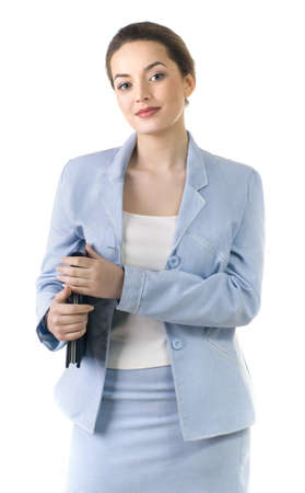 Portrait of a young attractive business woman. Stock Photo - 9503749