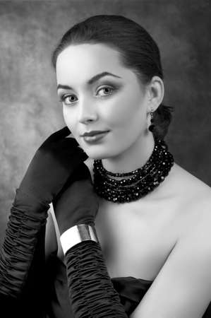 Romantic beautiful woman. Retro Style Stock Photo - 9503851