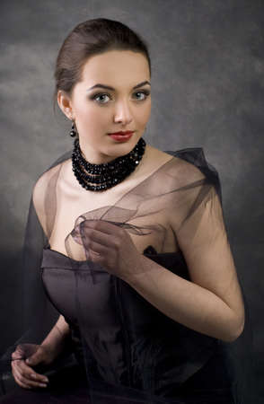Romantic beautiful woman. Retro Styl Stock Photo - 9503850