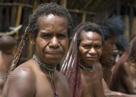 A traditional Indonesian papua  women