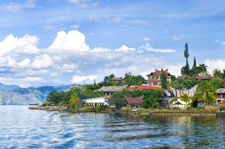 tuk: Village Tuk tuk. Island Samosir,Lake Toba. Sumatra